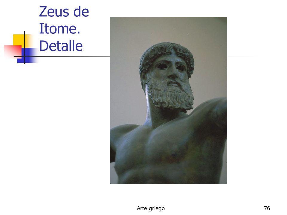 Zeus de Itome. Detalle Arte griego