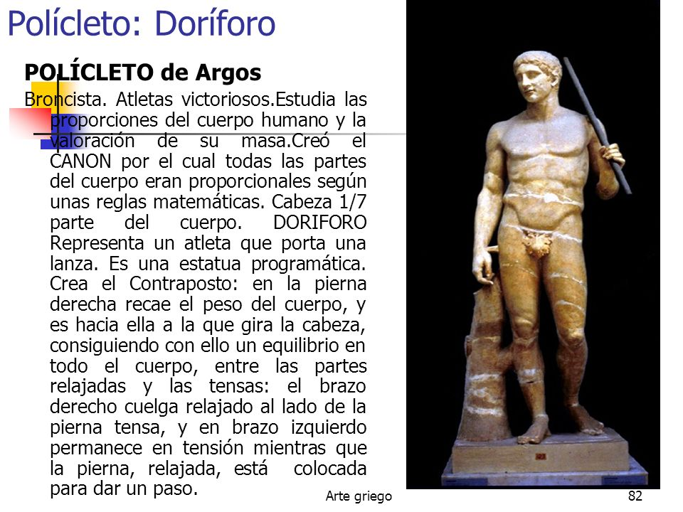 Polícleto: Doríforo POLÍCLETO de Argos