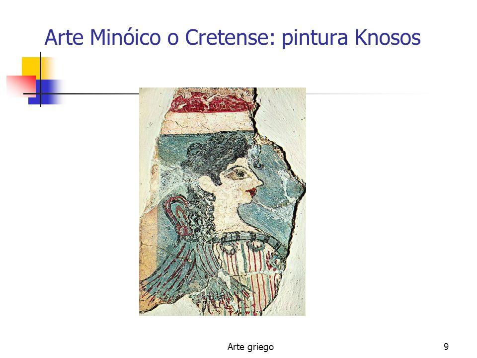 Arte Minóico o Cretense: pintura Knosos