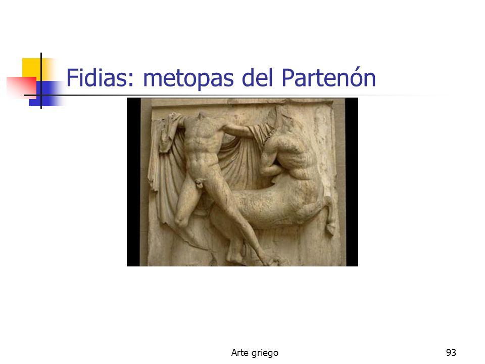 Fidias: metopas del Partenón