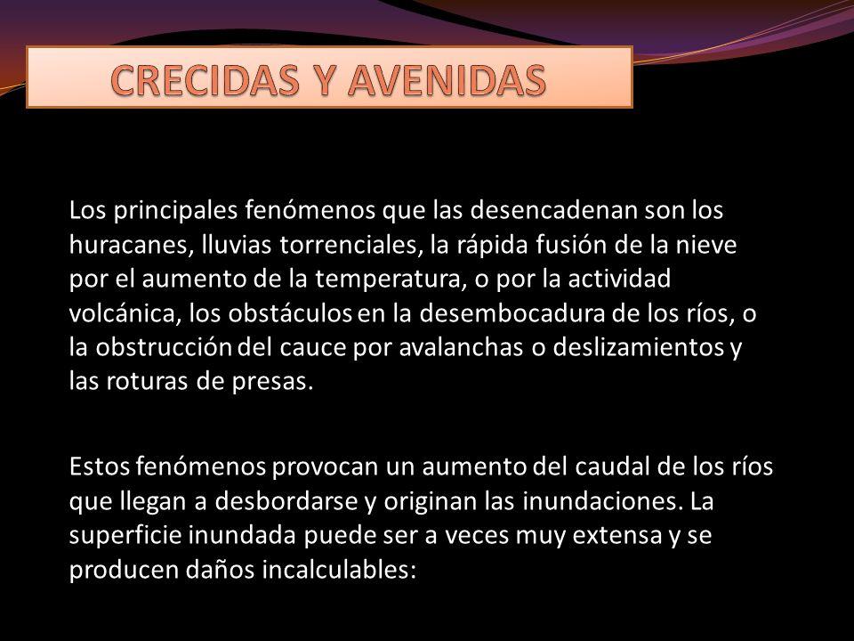 CRECIDAS Y AVENIDAS