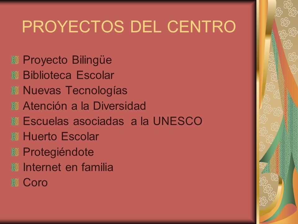 PROYECTOS DEL CENTRO Proyecto Bilingüe Biblioteca Escolar