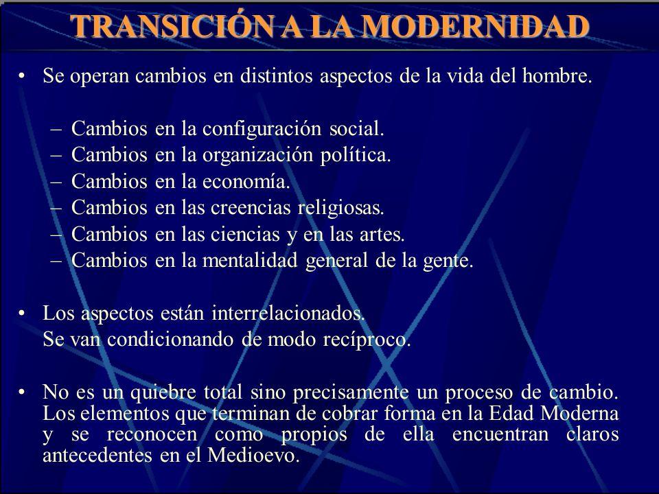 TRANSICIÓN A LA MODERNIDAD