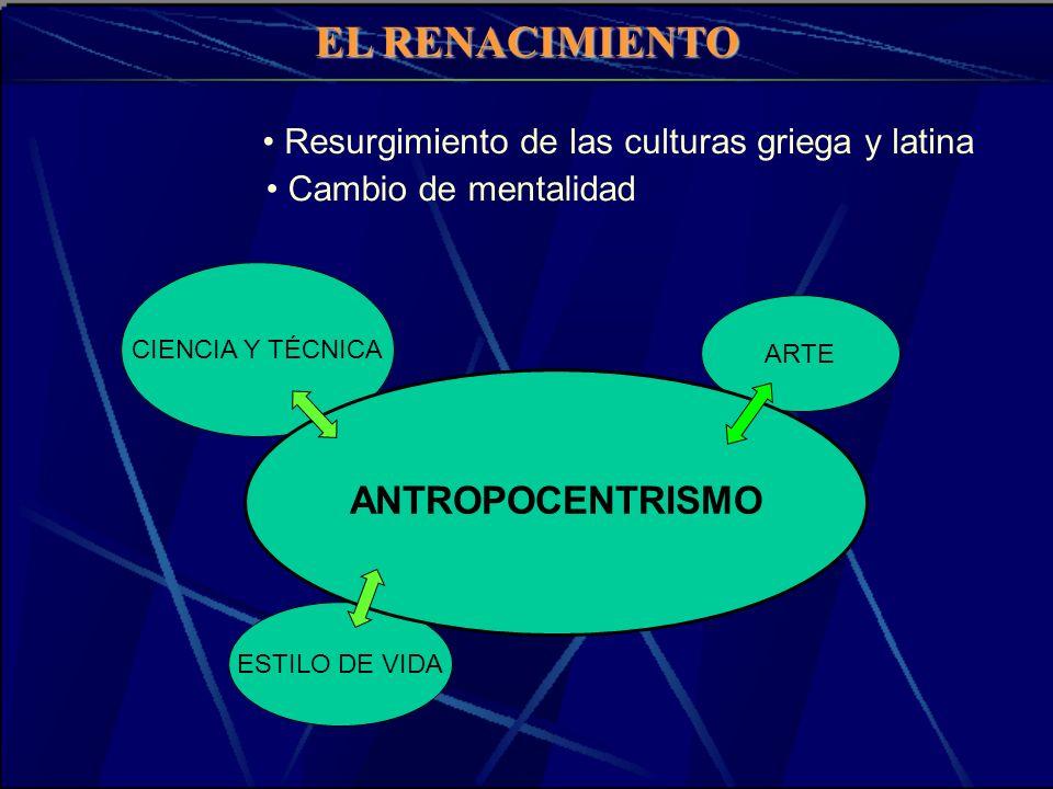• Resurgimiento de las culturas griega y latina