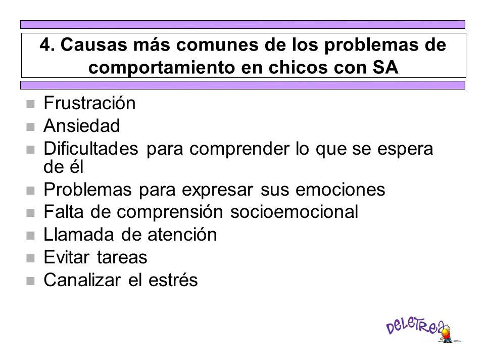 4. Causas más comunes de los problemas de comportamiento en chicos con SA