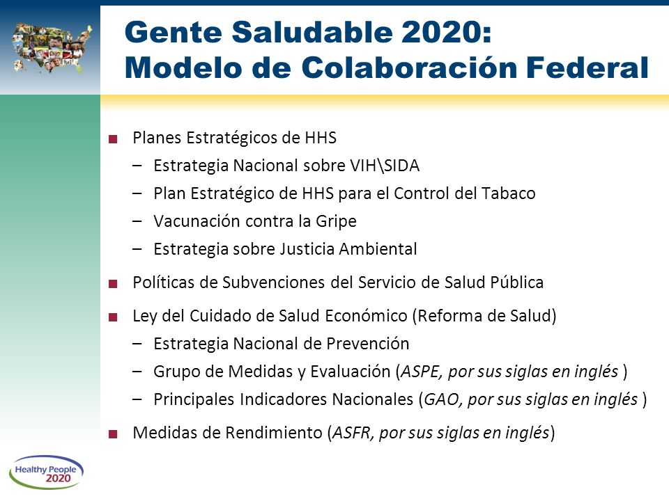 Healthy people gente saludable ppt descargar - Healthy people 2020 is a plan designed to ...
