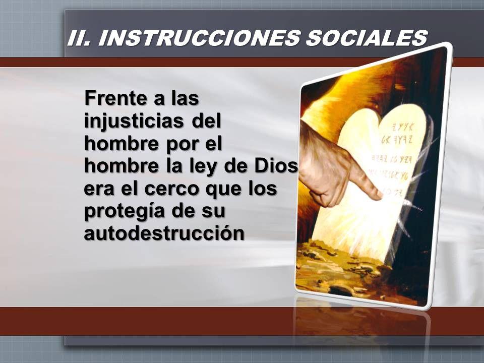 II. INSTRUCCIONES SOCIALES