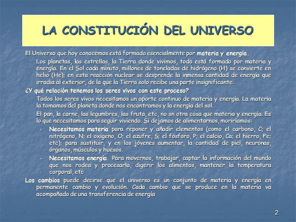 LA CONSTITUCIÓN DEL UNIVERSO