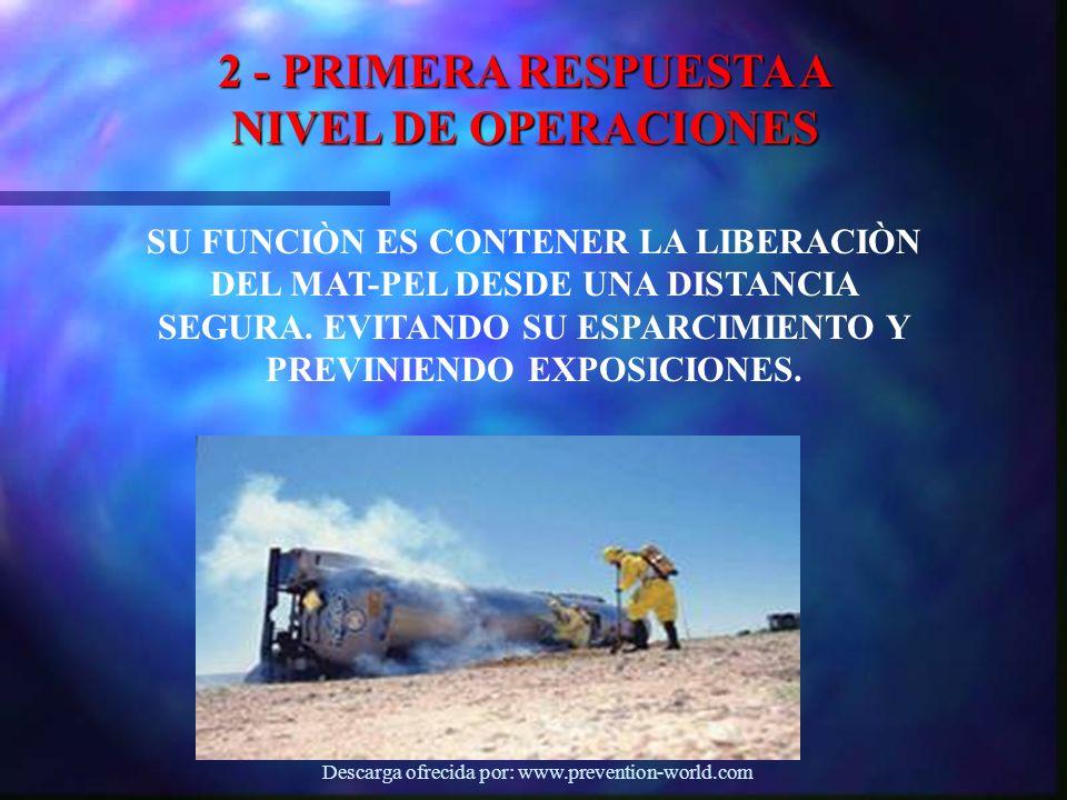 2 - PRIMERA RESPUESTA A NIVEL DE OPERACIONES