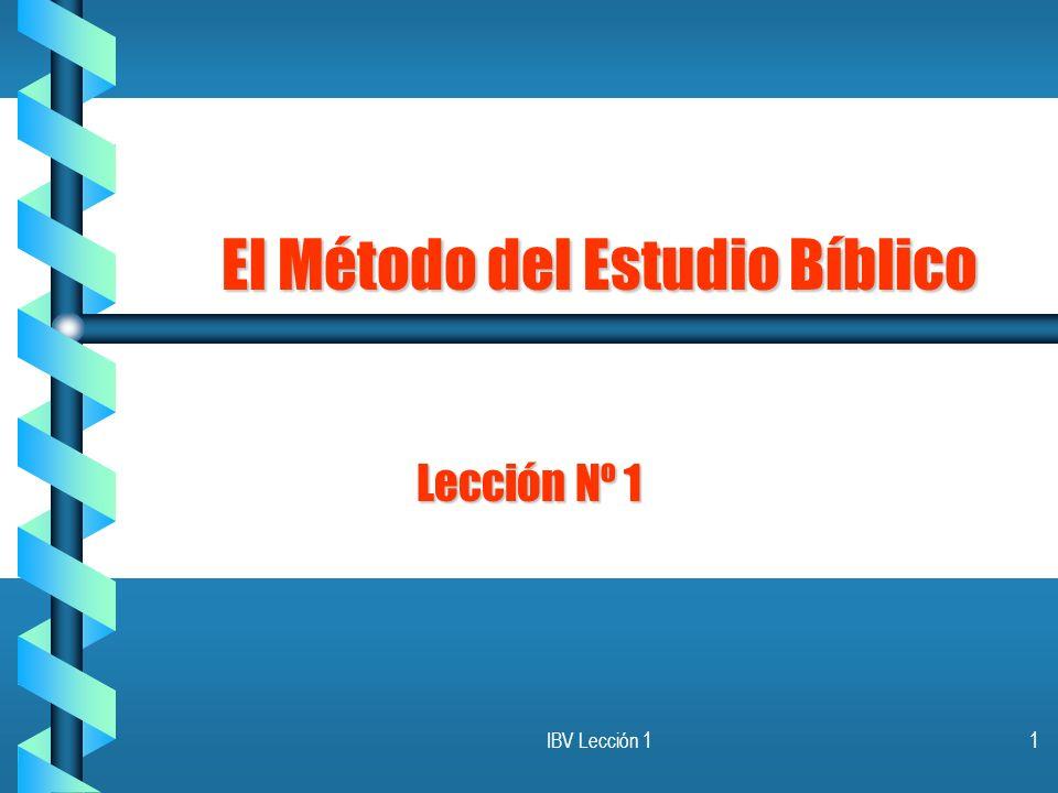 El Método del Estudio Bíblico