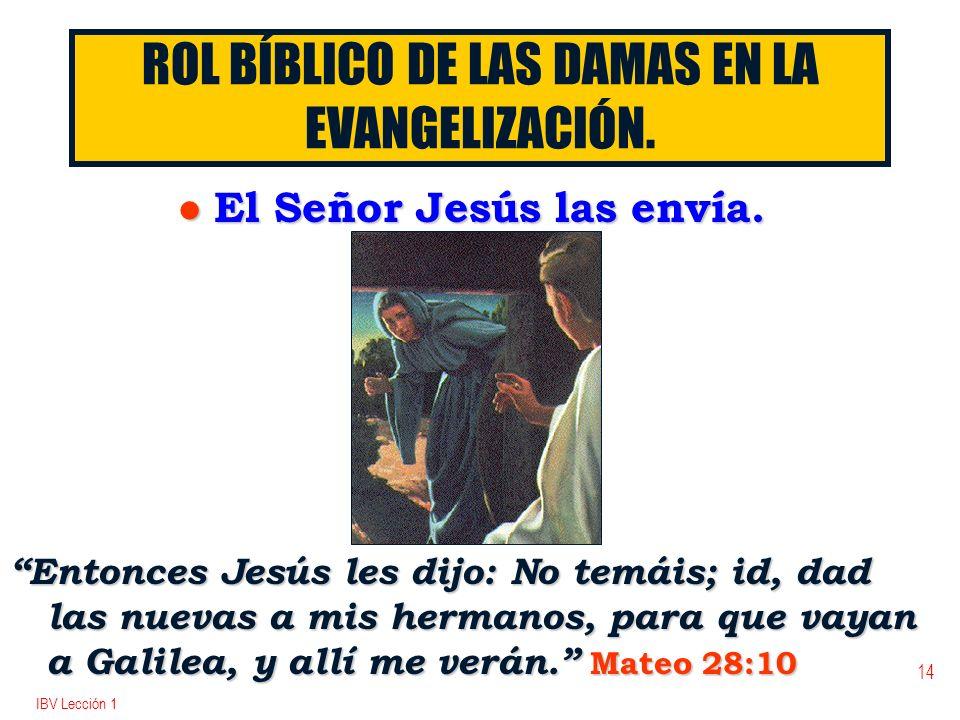 ROL BÍBLICO DE LAS DAMAS EN LA EVANGELIZACIÓN.
