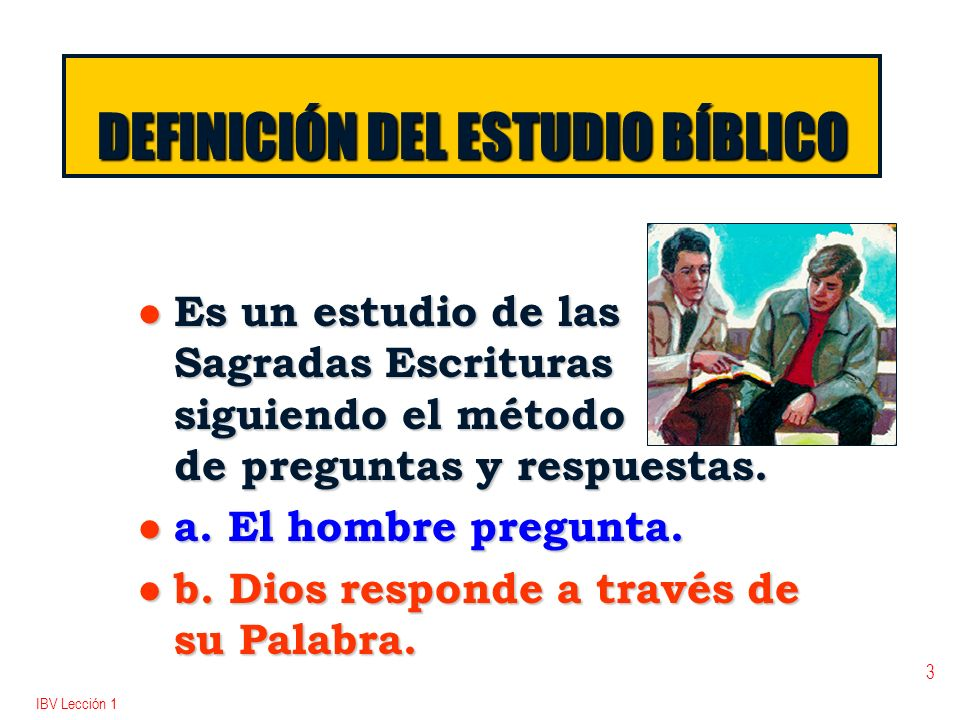 DEFINICIÓN DEL ESTUDIO BÍBLICO