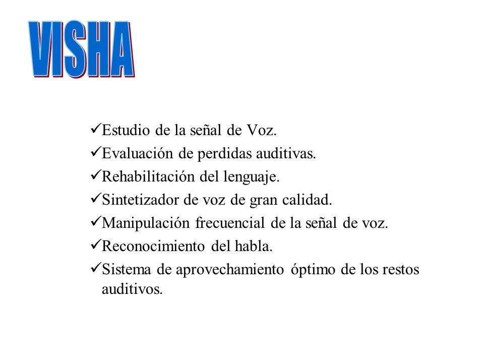 VISHA Estudio de la señal de Voz. Evaluación de perdidas auditivas.