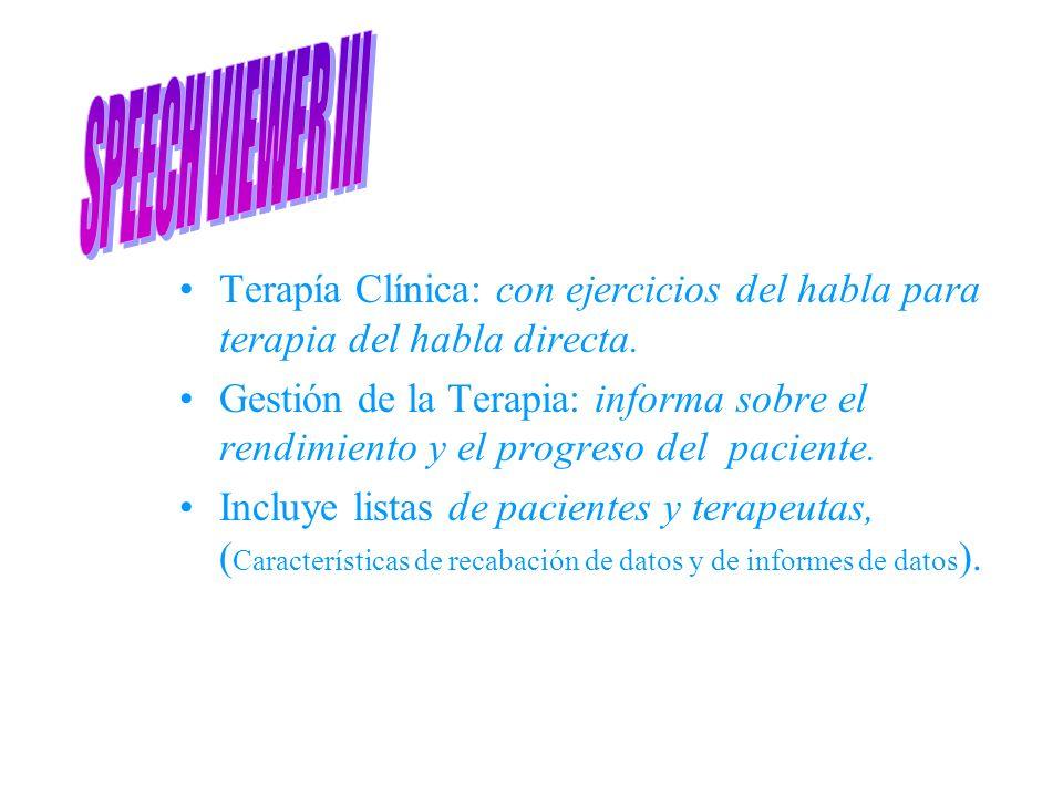 SPEECH VIEWER III Terapía Clínica: con ejercicios del habla para terapia del habla directa.