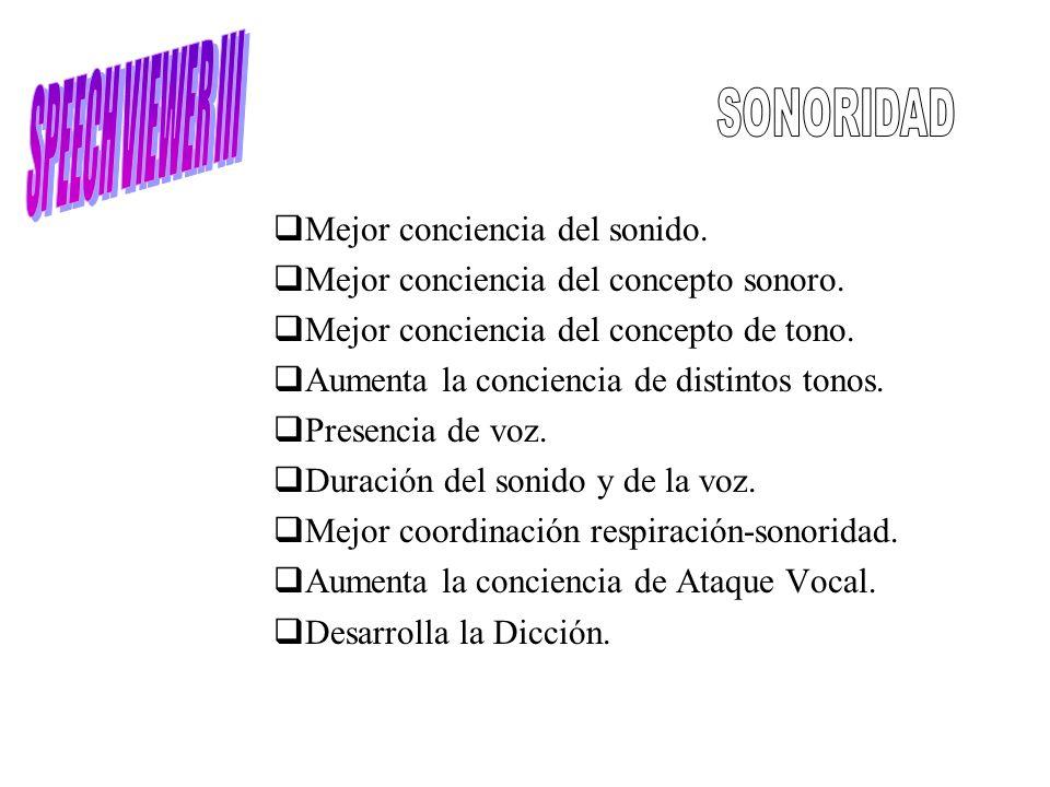 SPEECH VIEWER III SONORIDAD Mejor conciencia del sonido.