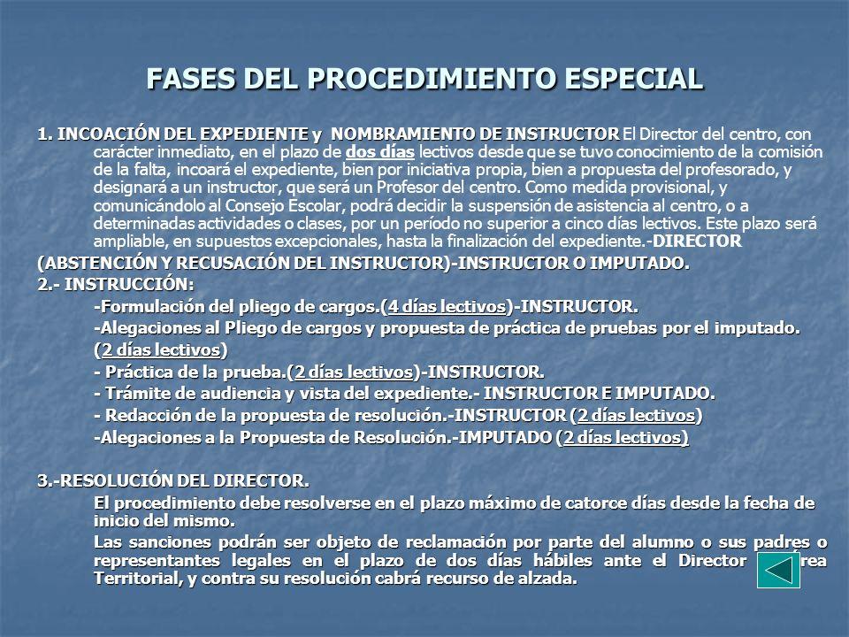 FASES DEL PROCEDIMIENTO ESPECIAL