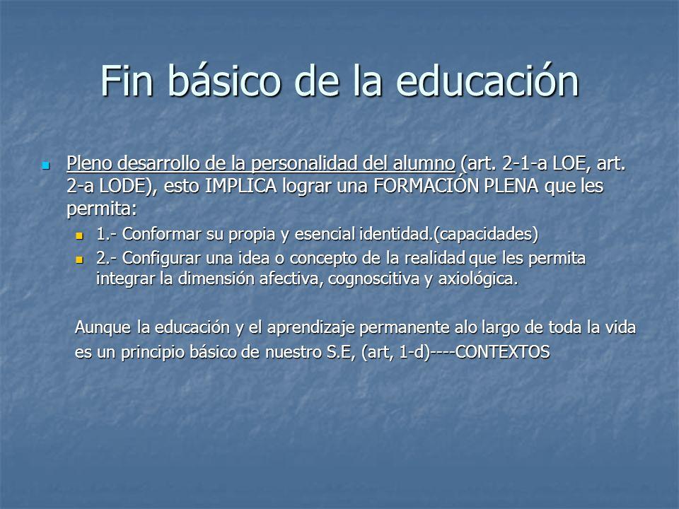 Fin básico de la educación