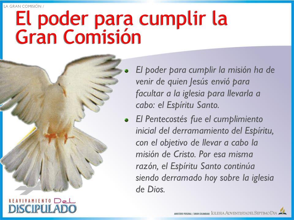 El poder para cumplir la Gran Comisión
