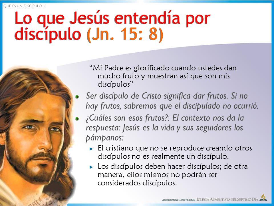Lo que Jesús entendía por discípulo (Jn. 15: 8)