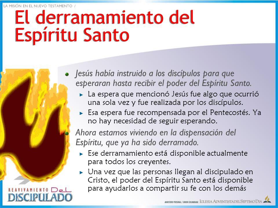 El derramamiento del Espíritu Santo