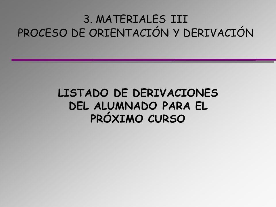 3. MATERIALES III PROCESO DE ORIENTACIÓN Y DERIVACIÓN