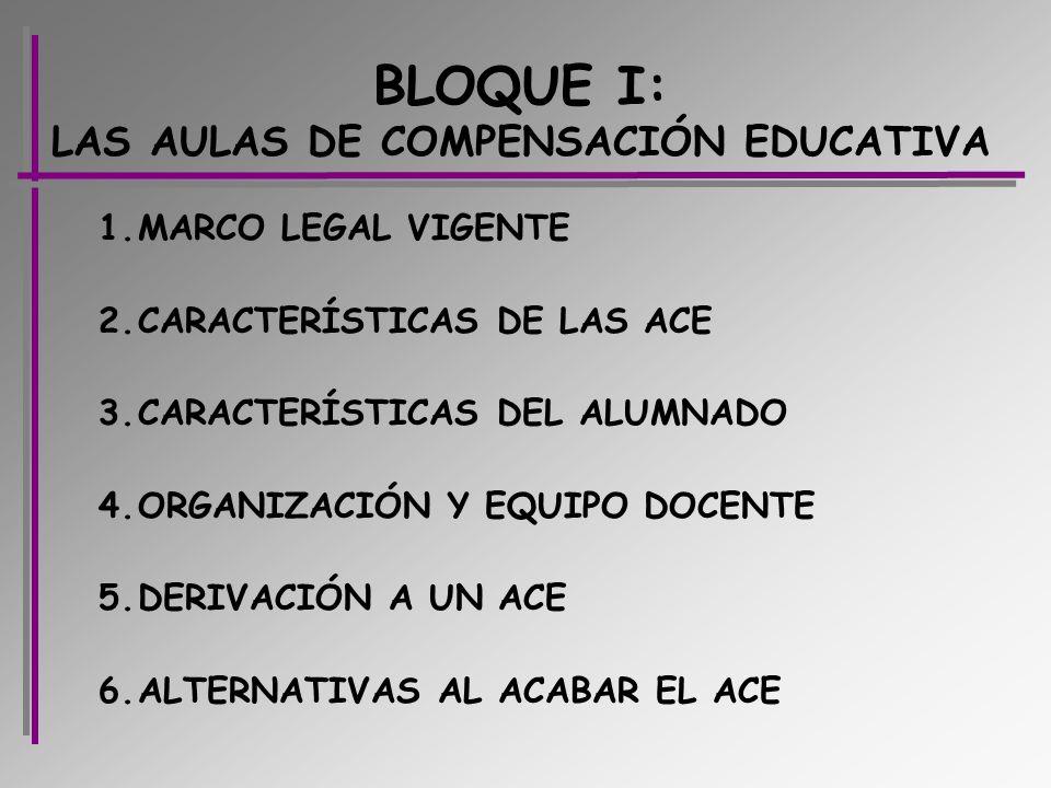BLOQUE I: LAS AULAS DE COMPENSACIÓN EDUCATIVA