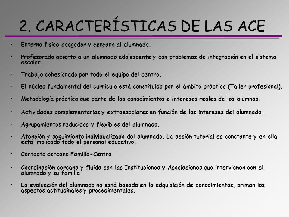 2. CARACTERÍSTICAS DE LAS ACE
