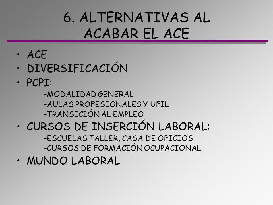 6. ALTERNATIVAS AL ACABAR EL ACE