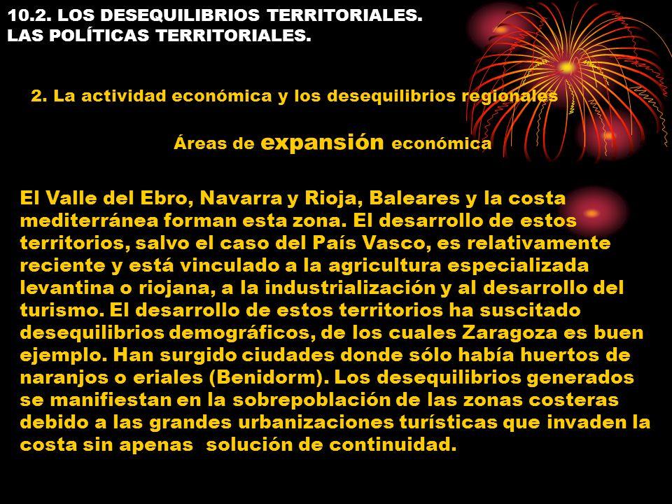 10.2. LOS DESEQUILIBRIOS TERRITORIALES. LAS POLÍTICAS TERRITORIALES.