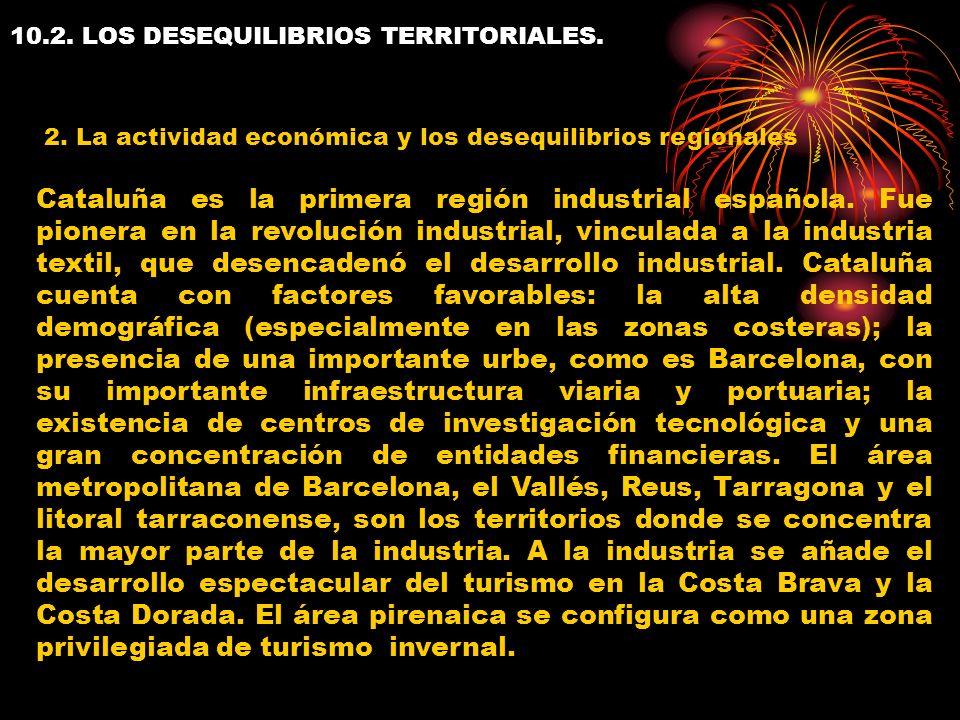 10.2. LOS DESEQUILIBRIOS TERRITORIALES.