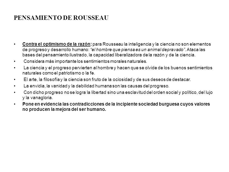 PENSAMIENTO DE ROUSSEAU