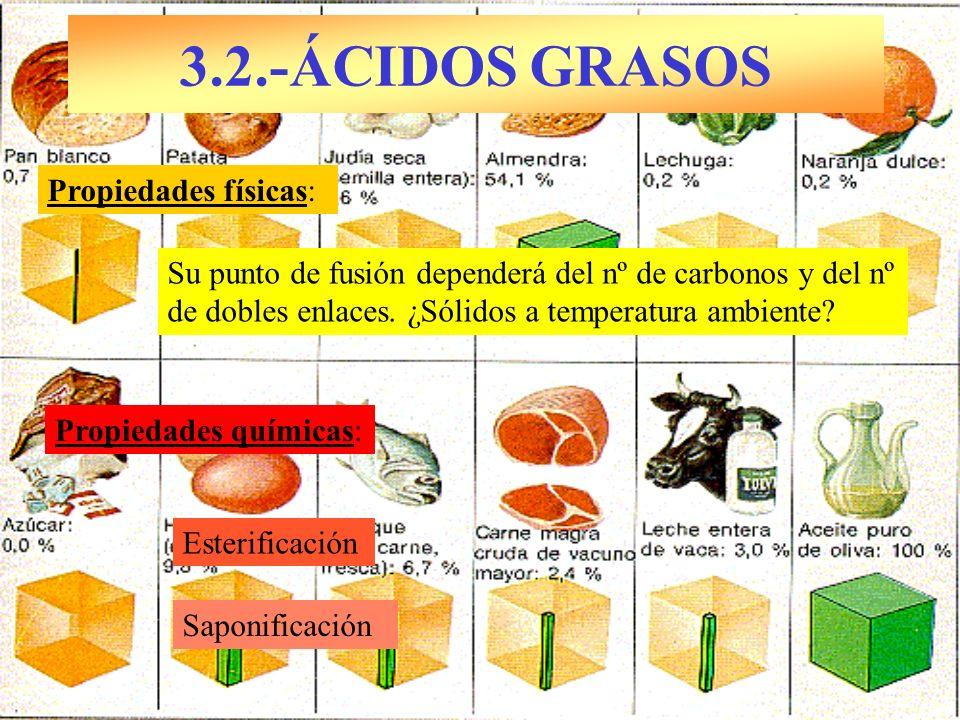 3.2.-ÁCIDOS GRASOS Propiedades físicas: