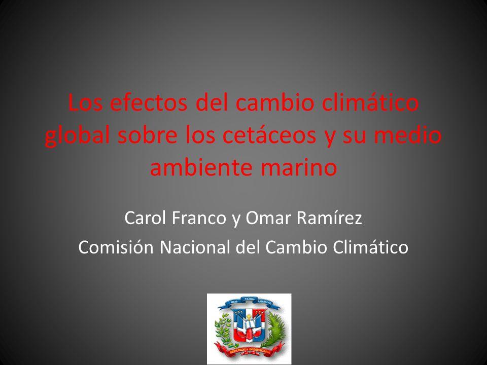 Carol Franco y Omar Ramírez Comisión Nacional del Cambio Climático