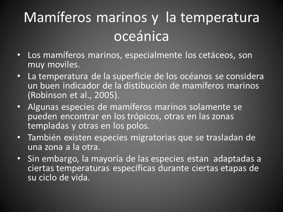 Mamíferos marinos y la temperatura oceánica