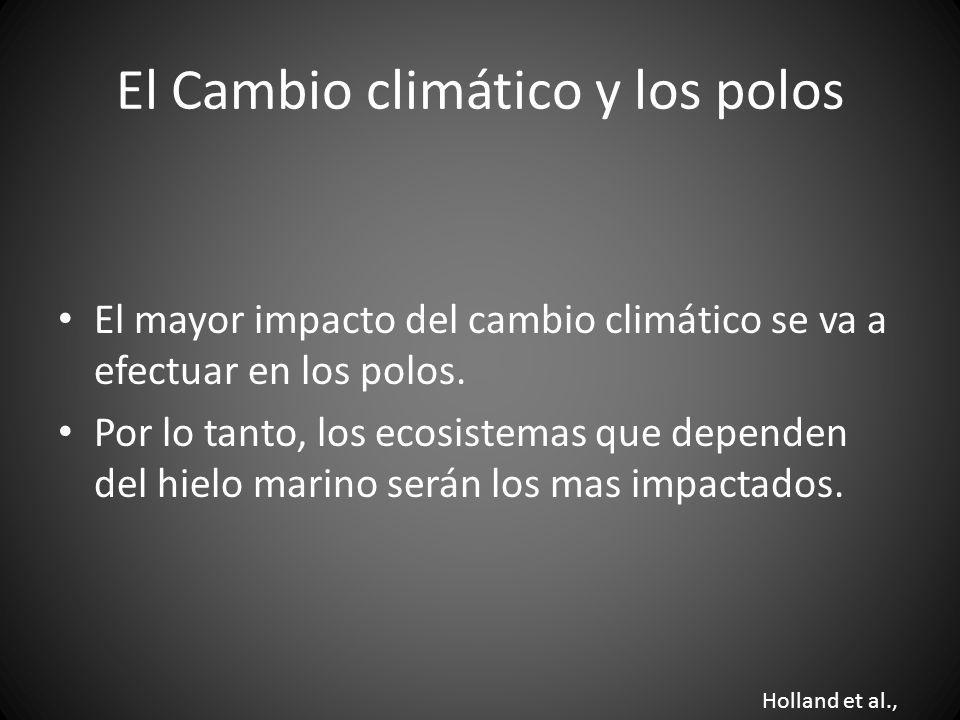 El Cambio climático y los polos