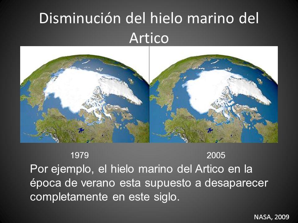 Disminución del hielo marino del Artico