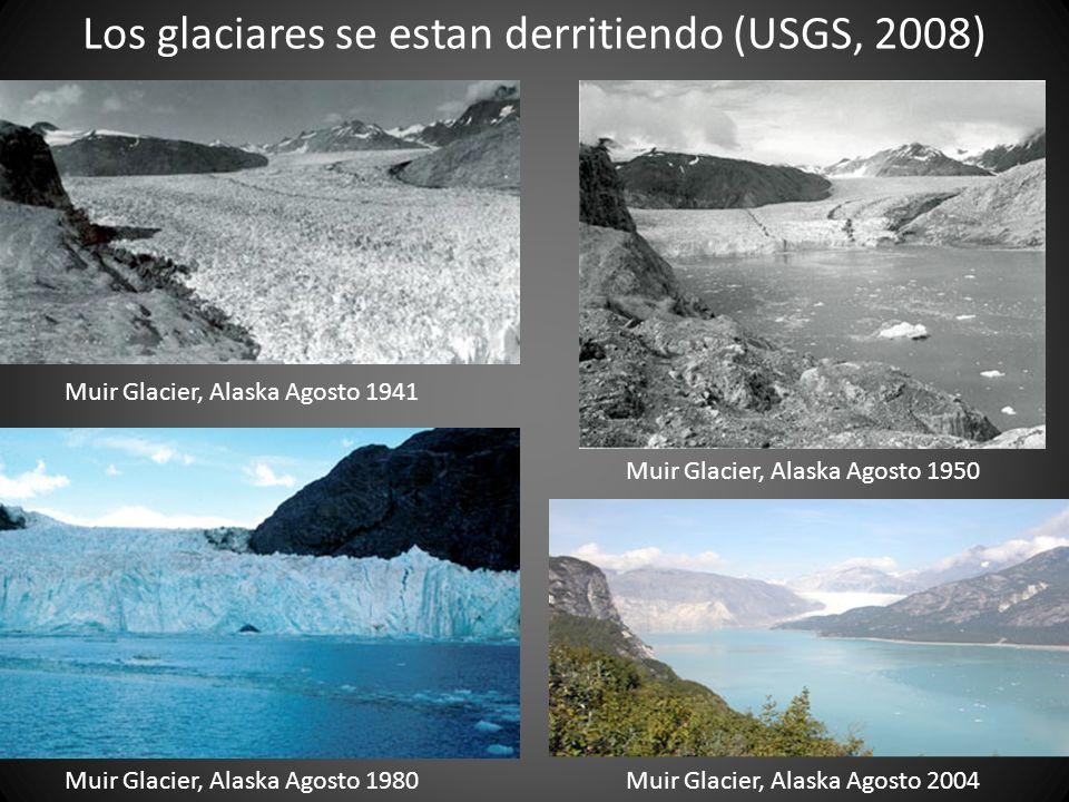 Los glaciares se estan derritiendo (USGS, 2008)