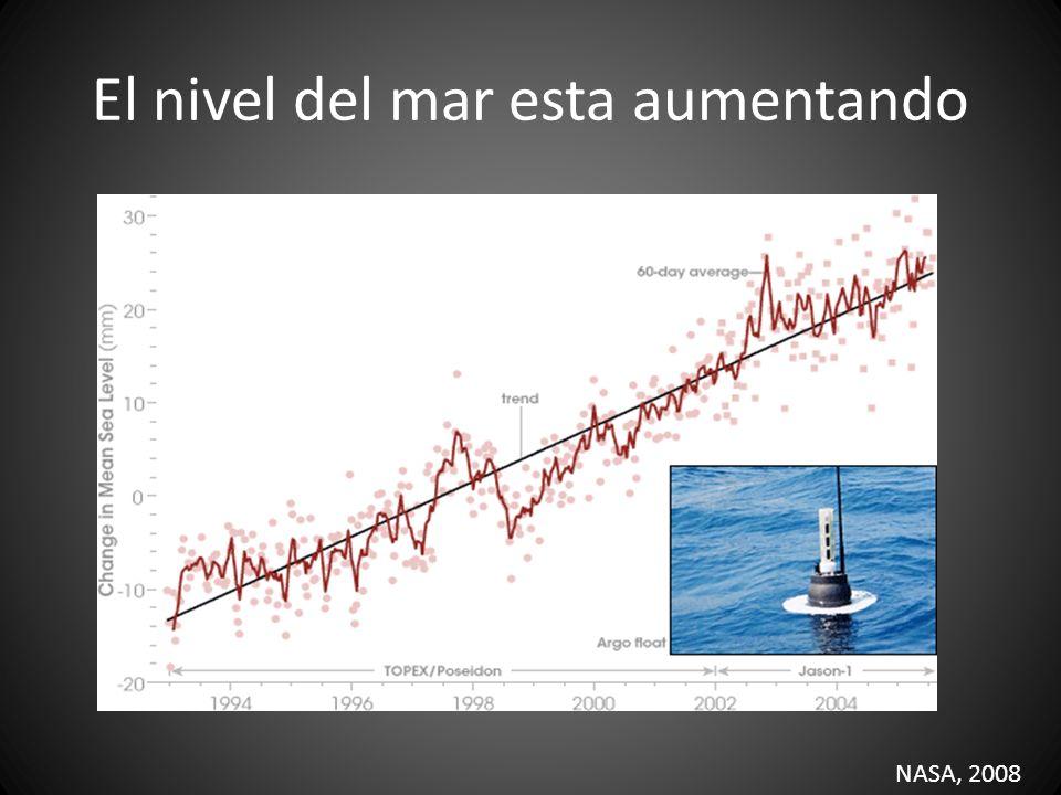 El nivel del mar esta aumentando