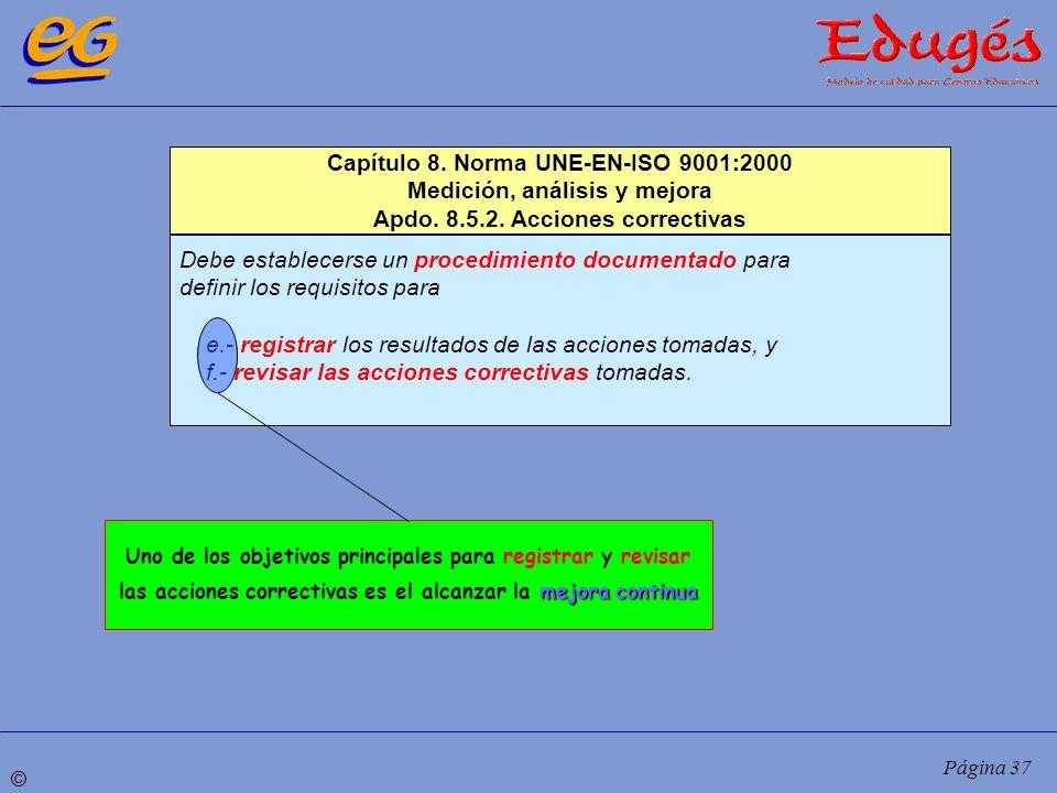 Capítulo 8. Norma UNE-EN-ISO 9001:2000 Medición, análisis y mejora