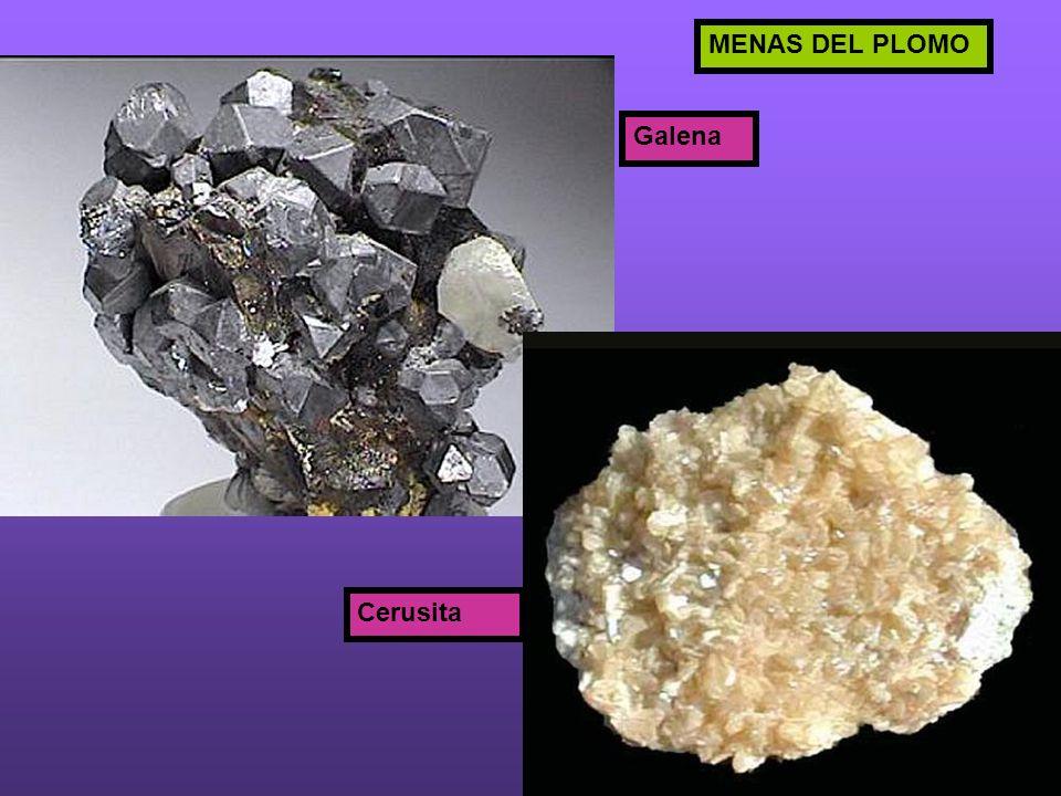 MENAS DEL PLOMO Galena Cerusita