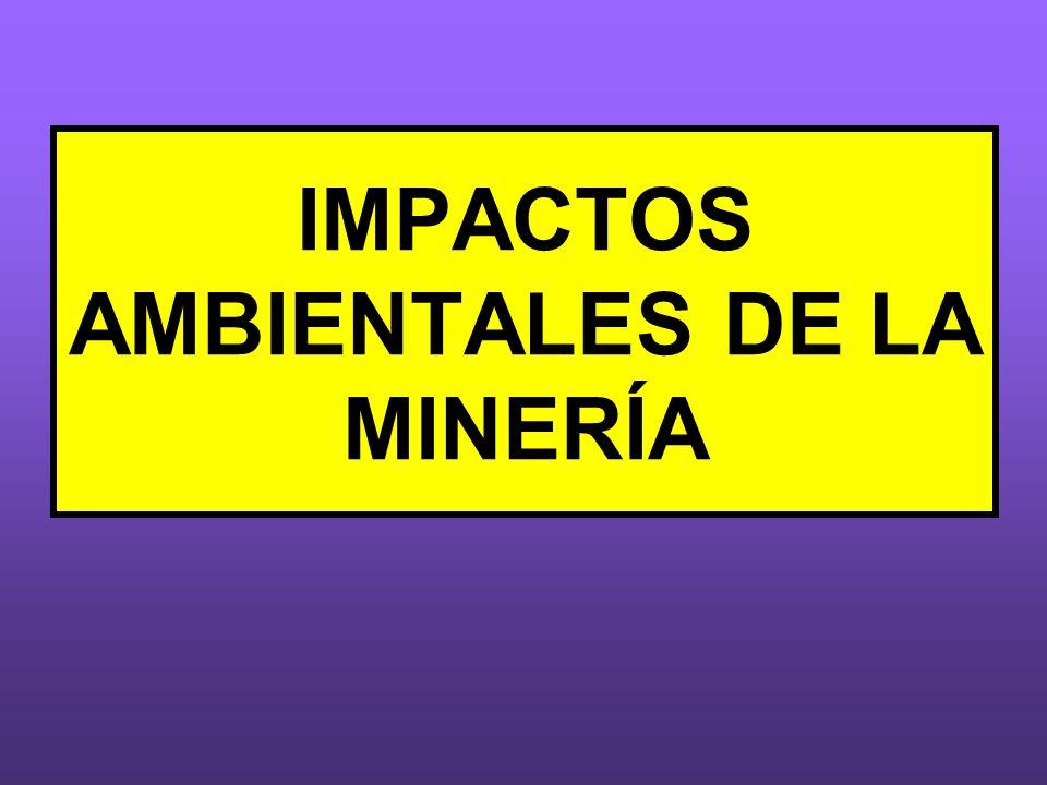 IMPACTOS AMBIENTALES DE LA MINERÍA