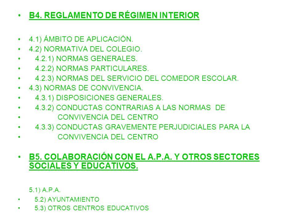 5.1) A.P.A. B4. REGLAMENTO DE RÉGIMEN INTERIOR