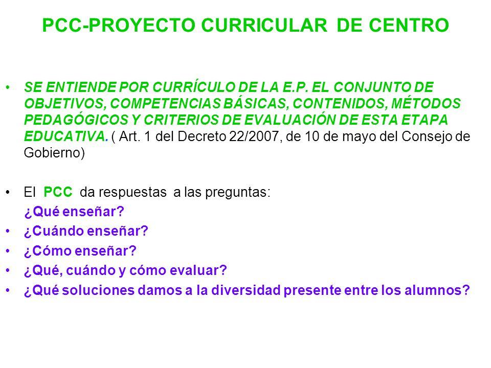 PCC-PROYECTO CURRICULAR DE CENTRO