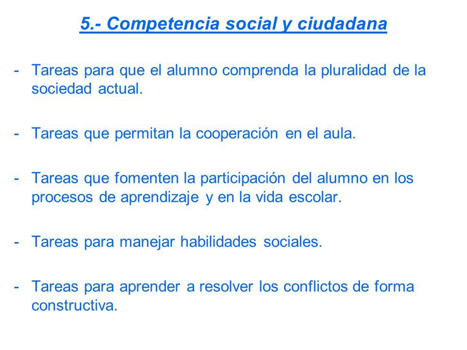 5.- Competencia social y ciudadana