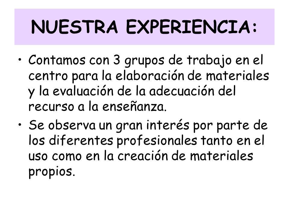 NUESTRA EXPERIENCIA: