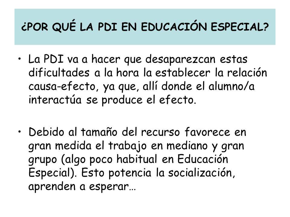 ¿POR QUÉ LA PDI EN EDUCACIÓN ESPECIAL