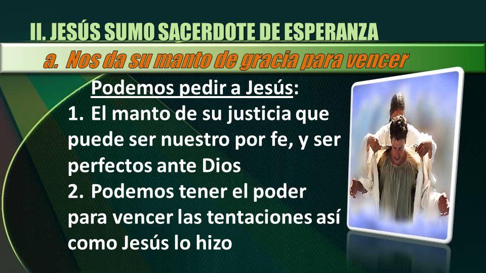 II. JESÚS SUMO SACERDOTE DE ESPERANZA