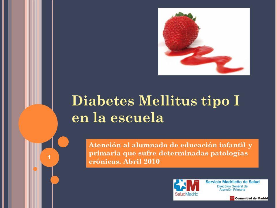 Diabetes Mellitus tipo I en la escuela