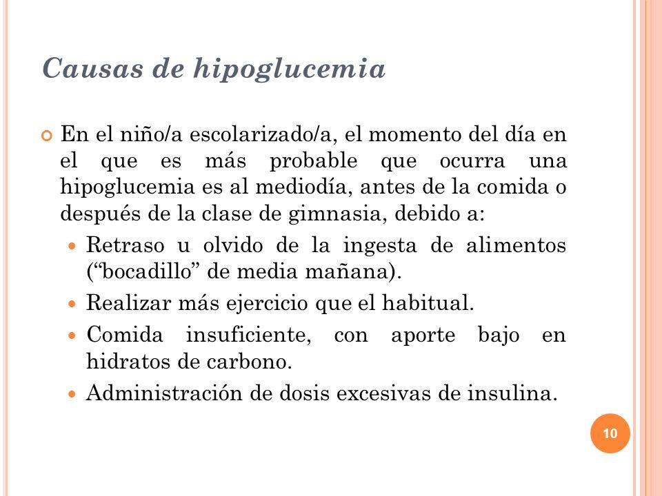 Causas de hipoglucemia