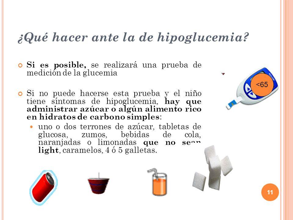 ¿Qué hacer ante la de hipoglucemia